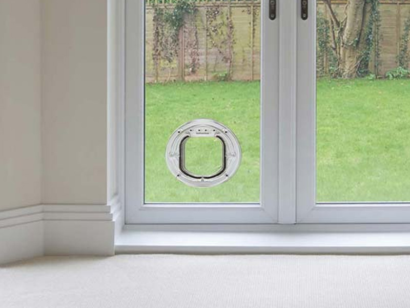 cat flap in double glazed door price