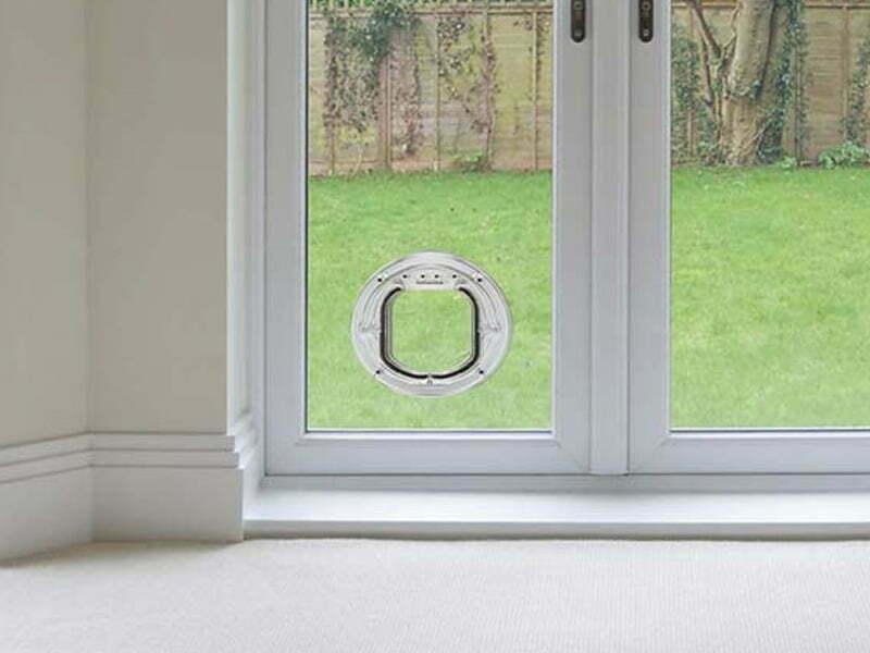 cat flap in double glazed door price