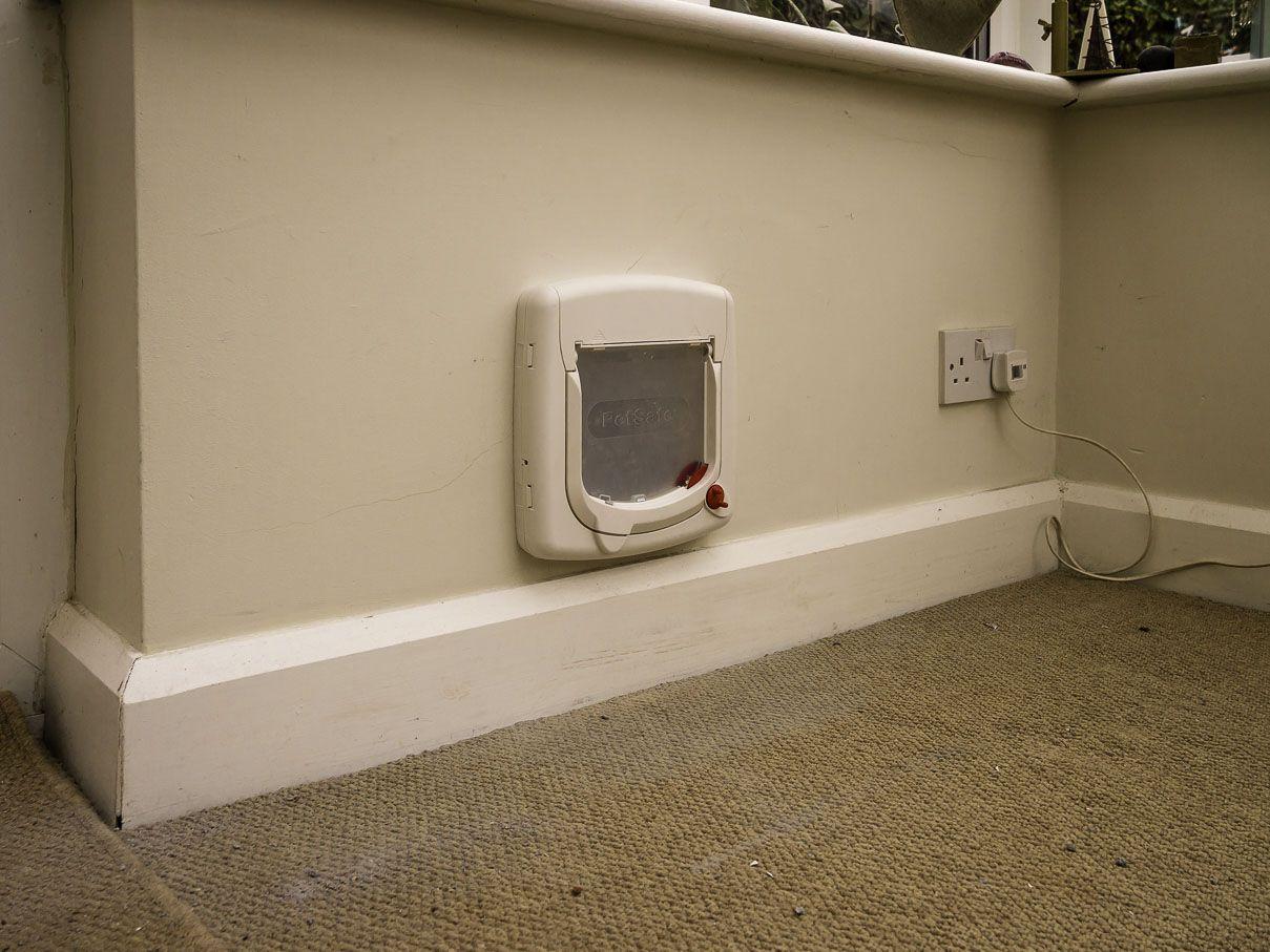 composite back door with cat flap